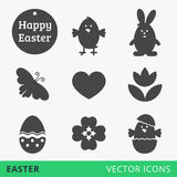 Easter signs vector web icons Stock Images