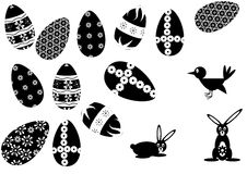 Easter5 silhoulette Royalty Free Stock Photography