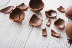 easter smakligt chokladägg royaltyfria bilder