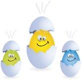 Easter smile eggs. Happy surprise eggs, easter season, vector Stock Photography