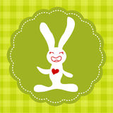 Easter smiling bunny Royalty Free Stock Images