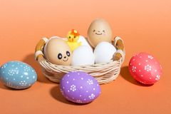 Easter smiling eggs. stock photography