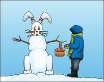 Easter Snowman Stock Photos