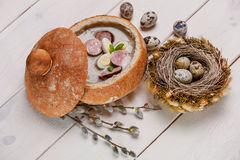 Easter soup Royalty Free Stock Photos