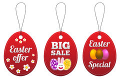 Easter special tags in the form of egg. Stock Photography