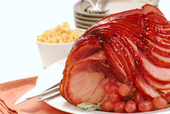Easter spiral cut ham Stock Photography