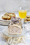 Easter sponge roll Royalty Free Stock Image