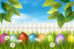 Easter spring backdrop. Vector royalty free stock photo