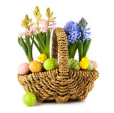 Easter spring basket Royalty Free Stock Image