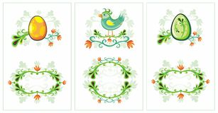 Easter spring birds cards 3 Royalty Free Stock Photography