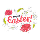 Easter spring card Stock Image
