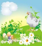 Easter. Spring composition for card Royalty Free Stock Photos