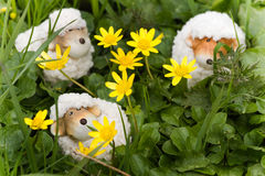 Easter- or spring decoration - funny little sheep Royalty Free Stock Image