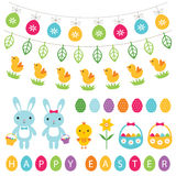 Easter and spring design elements set Stock Photo