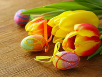 Easter spring flowers tulips Royalty Free Stock Image