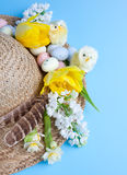 Easter and spring hat Stock Images
