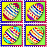 Easter stamps stock images