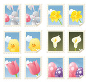 Easter Stamps Stock Photos