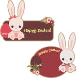 Easter stickers Stock Photography