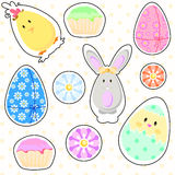 Easter stickers Stock Image