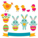 Easter stickers set Stock Images