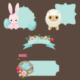 Easter stickers set Royalty Free Stock Image