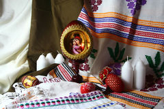 Easter still life. Varicoloured easter objects are in still life Royalty Free Stock Images