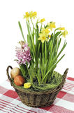 Easter still-life. With flowers Royalty Free Stock Images