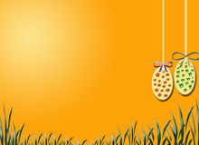 Easter still life. With grass and eggs Stock Photography