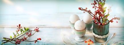 Easter Still Life Breakfast Scene Stock Images