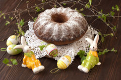 Easter still life with cake Stock Photos