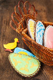 Easter still life with homemade cookies Royalty Free Stock Photos