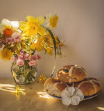 Easter still life. Easter Morning royalty free stock image