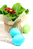 Easter still life with primroses. Stock Photography