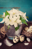 Easter still life rustic style Stock Images