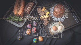 Easter Still Life with traditional holiday elements Royalty Free Stock Photography