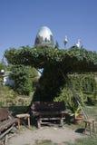 Easter storks nest Stock Images