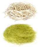 Easter  straw nest background Stock Images