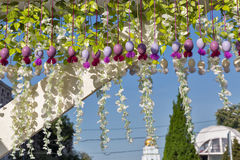 Easter street outdoor decoration. Royalty Free Stock Photography