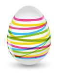 Easter striped egg Royalty Free Stock Photos
