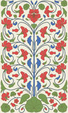 Easter style vintage floral pattern vector illustration
