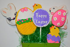 Easter Sugar Cookie Bouquet Royalty Free Stock Photos