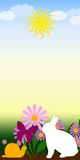 Easter sun. Rabbit, sun, flower spring comes everywhere Stock Illustration