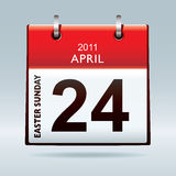 Easter Sunday calendar icon Stock Photography