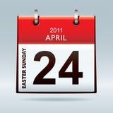 Easter Sunday calendar icon Stock Photography