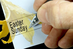 Easter Sunday, Calendar Notation Stock Photography