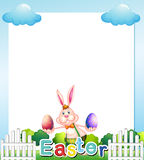 An Easter Sunday empty card template Stock Photo