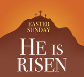 Easter sunday holy week sunrise card Stock Photos