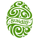 Easter Sunday Lettering Stock Images