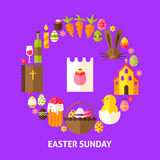 Easter Sunday Postcard Royalty Free Stock Photography